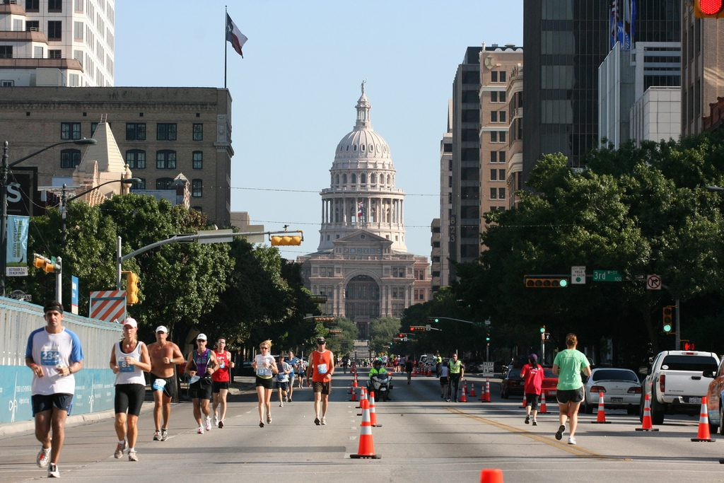 In Austin, it's easy to find a way to stay in shape. For motivation, sign up for one of the fun runs or marathons the city hosts. Photo from Flickr user Roger Mommaerts.